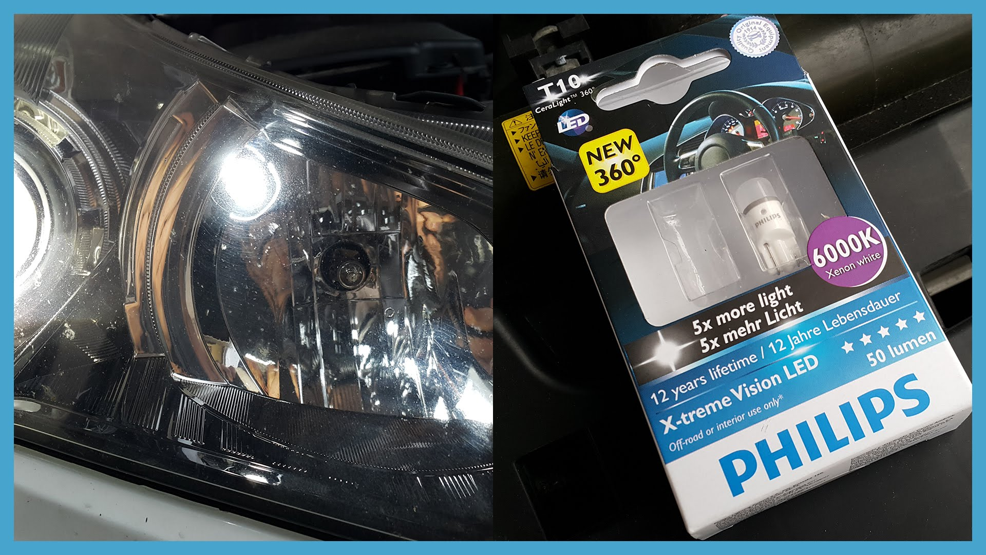 fog light lens, halogen to led conversion